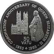 50 vatu (40ème anniversaire du couronnement d'Elizabeth II) – revers