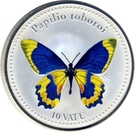 10 Vatu (Papilio toboroi) – revers