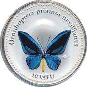 10 Vatu (Ornithoptera Priamus Urvillianus) – revers