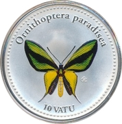 10 Vatu (Ornithoptera Paradisea) – revers