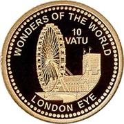 10 Vatu (London Eye) – revers