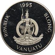 10 Vatu (Queen Elizabeth the Queen Mother) – avers