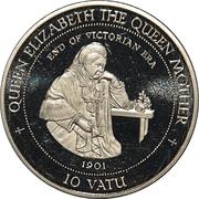 10 Vatu (Queen Elizabeth the Queen Mother) – revers