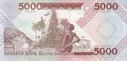 5000 Vatu – revers