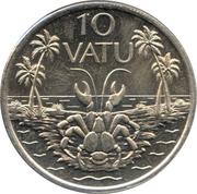10 vatu – revers