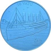 10 vatu (Titanic) – revers