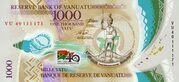 1,000 Vatu - 40 Years of Independence – avers