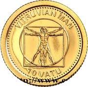 10 vatu (Homme de Vitruve) – revers