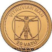 20 vatu (Homme de Vitruve) – revers