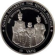 10 Vatu (97ème anniversaire de la Reine mère) – revers