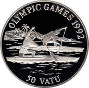 50 Vatu (Jeux olympiques Barcelone 1992) – revers