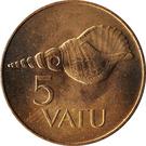 5 vatu – revers