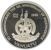 50 vatu (Indépendance) – avers
