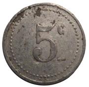 5 centimes - Comité Municipal d'Approvisionnement - Vanves [92] – revers