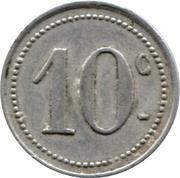 10 centimes - Comité Municipal d'Approvisionnement - Vanves [92] -  revers