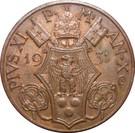 10 centesimi Pie XI – avers