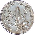 5 centesimi Pie XI – revers