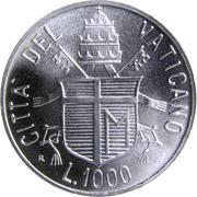 1000 lires Jean Paul II -  revers