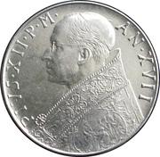 100 lires Pie XII -  avers
