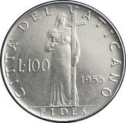 100 lires Pie XII -  revers