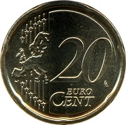 20 cents d'euro François (2e type) -  avers
