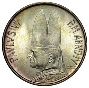 500 lires Paul VI -  avers