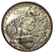 500 lires Paul VI -  revers