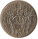 20 centesimi Pie XI – avers