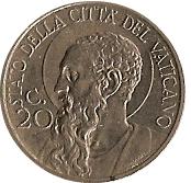 20 centesimi Pie XI – revers