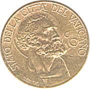 10 centesimi Pie XII – revers