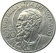 20 centesimi Pie XII – revers