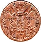 5 centesimi Jubilé de Pie XI – avers