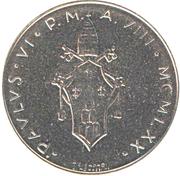 100 lires Paul VI -  avers