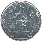 100 lires Paul VI -  revers