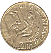 200 lires Jean Paul II -  revers