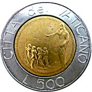 500 lires Jean Paul II -  revers