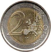 2 euros Benoît XVI (1ère carte) -  revers