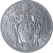 50 centesimi Pie XI – avers