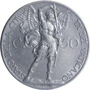 50 centesimi Pie XI – revers