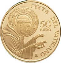 50 euros Saint François - Vatican - Numista