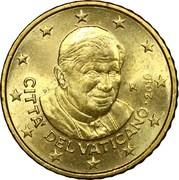 50 cents d'euro Benoît XVI (2e carte) -  avers