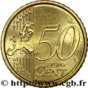 50 cents d'euro Benoît XVI (2e carte) -  revers