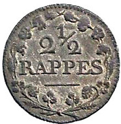2½ rappes – revers