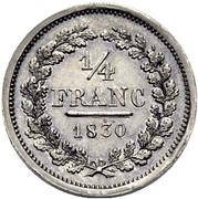 ¼ Franc – revers