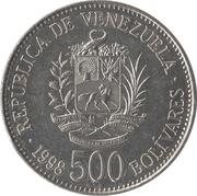 500 bolivares – avers