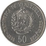 50 bolivars – avers