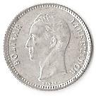 25 centimos (argent sans marque d'atelier) – revers