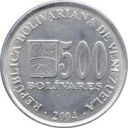 500 bolivars – avers