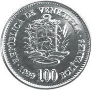 100 bolivars – avers