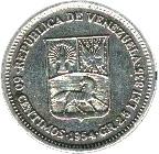50 centimos (argent sans marque d'atelier) – avers